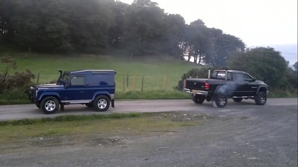 Dodge Ram Cummins Vs Landrover Deffender 90