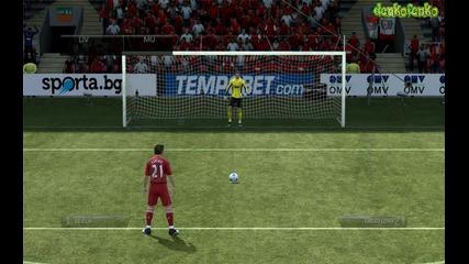 Fifa 12 ( Liverpool - Manchester United ) - дузпи !