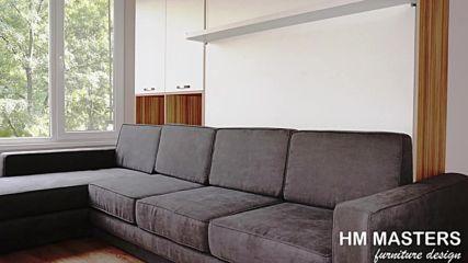 Дневна стая с Падащо легло от hm-masters.com