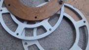 Многослойна структура за странична броня на бронирано колело за бойни машини