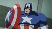 Отмъстителите: Най-могъщите герои на Земята / Тренировка между Капитан Америка и Ястребовото Око