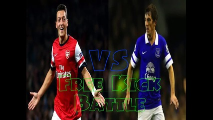 Mesut Ozil vs Leighton Baines | Free Kick Battle #1