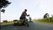 Луд Дрифт с триколки - Motorized Drift Trike and Blokart in 4k