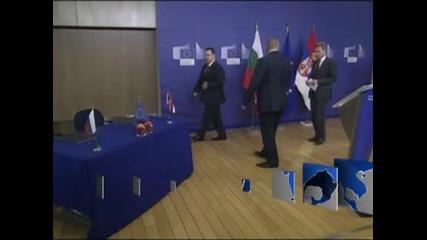 Борисов и Дачич подписаха споразумение за изграждане на газова връзка между България и Сърбия