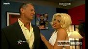 Vince Mcmahon and Jillian Backstage | Raw 24.8.2009