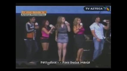 Dulce Maria canta Inevitable en Unidos Somos Nuevo Le