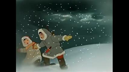 Руска анимация. В яранге горит огонь
