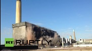 UK: Didcot A Power Station comes down with a bang