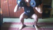 Моята тренировка за крака в домашни условия.