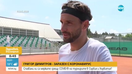 Как се зарази с коронавирус Григор Димитров?