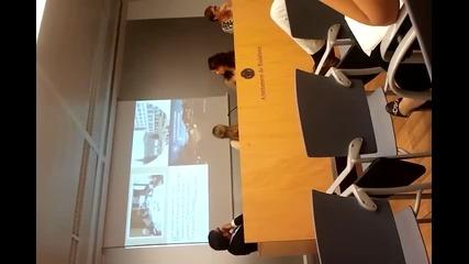 Презентация пред кметството и медиите в Бадалона, Испания, част 1