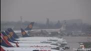 самолет излита по време на буря