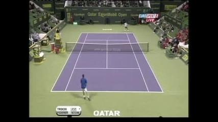 Федерер срещу Цонга е първият полуфинал в Доха