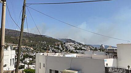 Turkey: Forest fires in hills around Bodrum prompt evacuation