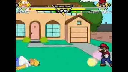 Homer Simpsons Vs Super Mario