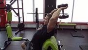 Фитнес упражнения - Разгъване с дъмбел зад врат