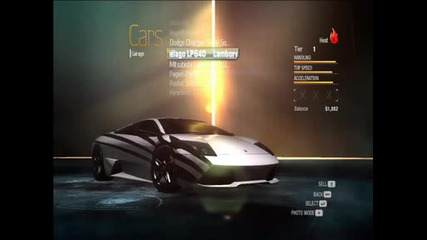 Need For Speed Undercover Best Cars With Full Upgrade