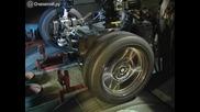 Изпитателен стенд показва нагледно как работи окачването на автомобила в движение