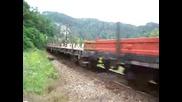 Товарен Влак С Румънски Локомотив Lde 2100