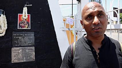 Sri Lanka: Mourners set up vigil outside bombed St Anthony's Church in Colombo