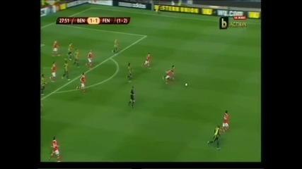 Обширен репортаж на мача Бенфика - Фенербахче 3:1