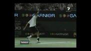 Federers Backhand