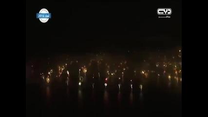 Amazing Dubai Stunning New Years Eve Fireworks 2015 Live Hd Aerial View