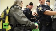 Sweden: See scuffles at protest against anti-begging posters