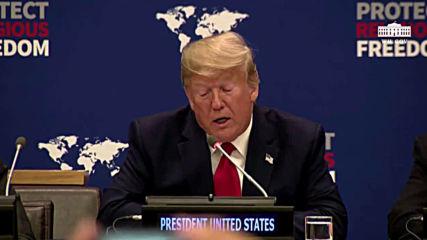 USA: Trump pledges $25 million at summit to end religious persecution
