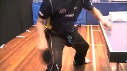 Уроци по тенис на маса - Форхенд по правата