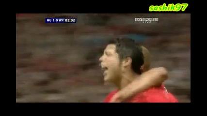 Роналдо със страхотен дрибъл и гол срещу Уест Хям.