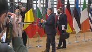 Belgium: Merkel, Orban arrive for 1st day of EU Council summit in Brussels