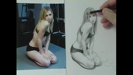 Рисуване на момиче