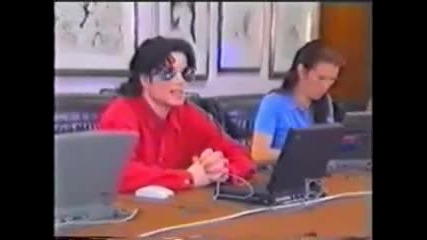 Michael Jackson talking to fans on the internet