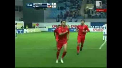 Best goal na Spas Delev (cska) koito vkarva 1 - iq gol s/u Dinamo( Moskva)