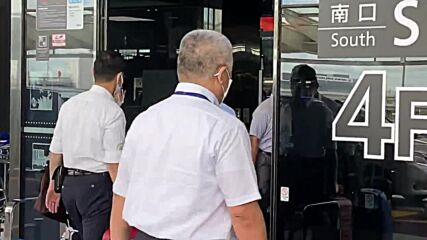 Japan: Sprinter Krystsina Tsimanouskaya arrives at Tokyo airport
