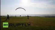 Brazil: Daredevil paraplegics take to the skies in FLYING wheelchairs