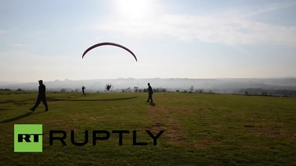 Brazil: Daredevil paraplegics take to the skies in FLYING wheelchairs
