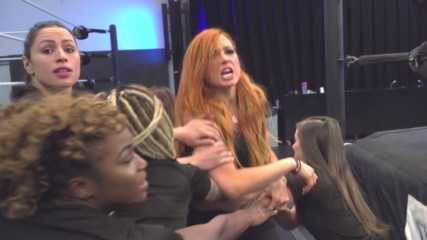 See Charlotte Flair and Becky Lynch get into an altercation at the WWE Performance Center: SmackDown LIVE, Oct. 23, 2018