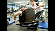 Steve Razor Rau training 720lbs. bench dips -327 kilo