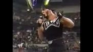 Hulk Hogan gives the Rock a piece of his mind