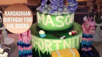 Mason Disick's Fortnite party is a gamer's dream