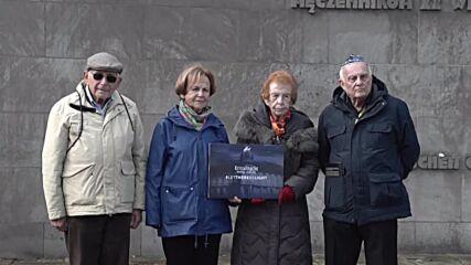 Germany: Holocaust survivors visit Bergen-Belsen memorial site in Lohheide