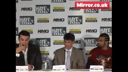 Wladimir Klitchko и David Haye се нареждат преди отменения им мач