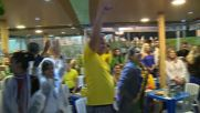 Brazil: Fans celebrate as Brazil's men's beach volleyball team secures Olympic gold