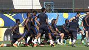 Франция тренира преди полуфинала с Германия