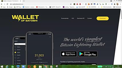 VankoG представя Wallet of Satoshi - BTC Onchain / Lightning портфейл