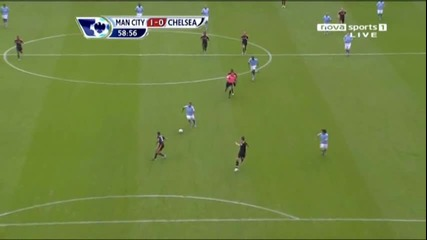 Man City 1 - 0 Chelsea Tevez Goal