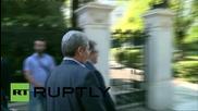 Greece: Tsipras arrives for emergency talks following Varoufakis' resignation