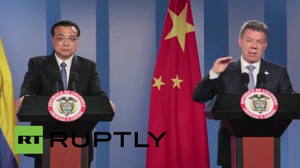 Colombia: President Santos talks trade with Chinese Premier Li Keqiang